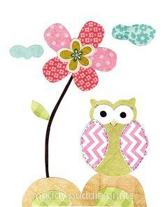 Nursery Art Nursery decor Nursery Prints Owl by MuddyPuddlePrints