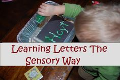 Learning Letters the Sensory Way