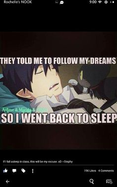 they told me to follow my #dreams... so i went back to sleep