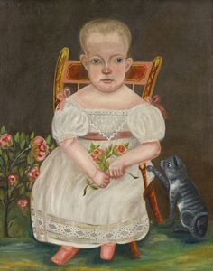 American School, 19th Century In the manner of Robert Darling. Painted circa 1830. oil on canvas 29 in. by 23 1/2 in.