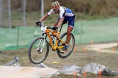 Sagan tearing up the MTB course in RIO during warm ups. Who's watching the race…