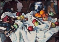 This is one of Peploe\'s largest paintings and though it was painted around 13 years later it\'s size is comparable to Still Life with Coffee Pot - the highest selling S J Peploe at auction Oil Painting Frames, Seascape Paintings, Large Painting, Still Life Oil Painting, Impressionist Art, Still Life Art, Oil Painting Reproductions, French Artists, Les Oeuvres