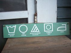 Laundry room sign  laundry symbol wood sign by StaciGcreations