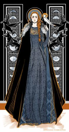 Latest Game of Thrones Quiz Lady of Winterfell and Queen in the North, Sansa Stark Lady of Winterfell and Queen in the North, Sansa Stark. Sansa Stark, Dessin Game Of Thrones, Arte Game Of Thrones, Game Of Thrones Sansa, Winter Is Here, Winter Is Coming, Alphonse Mucha, Film Manga, Game Of Thones