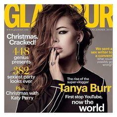 How hot does @tanyaburr look on the cover of @glamouruk! So incredibly proud of you you've worked so hard and you deserve every milestone! And very jealous of how well you're pulling off that smoky eye and messy hair  #wcw by niomismart