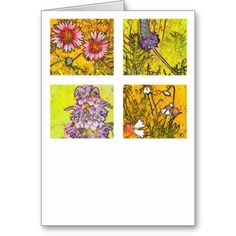"""A blank 5x7 greeting card featuring the image """"Wichita Wildflower"""" by artist and photographer Rodney Keith Richardson. This card can be customized."""