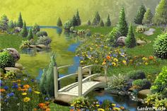 Wildflowers by the Bridge - GardenPuzzle - online garden planning tool