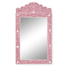 Strawberry & Mother of Pearl Inlay Crested Mirror $895.00
