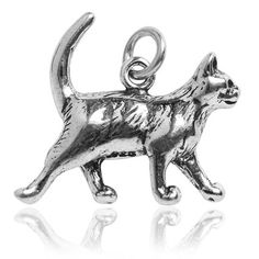 Sterling Silver Cat Charm | Silver Star Charms