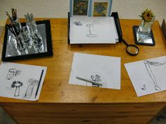 Invitations for learning: A place to start. Sketching flowers