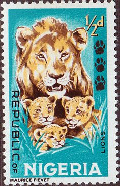 Nigeria 1965 SG 172 Animals Lion and Cubs Fine Used SG 172 Scott 184 Other…