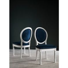 Shop for Safavieh Old World Dining Holloway Navy Velvet Oval Dining Chairs (Set of 2). Get free shipping at Overstock.com - Your Online Furniture Outlet Store! Get 5% in rewards with Club O! - 17462439