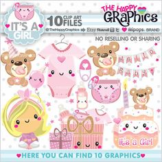 Baby Clipart, Baby Graphics, COMMERCIAL USE for all your projects & ideas. --------------------------------------- ★REGULAR PRICE $4.95usd - NOW $0.98usd★ --------------------------------------- This Kawaii clip art is perfect and terrific for create handmade craft items, stationery, greeting cards, party invitations, scrapbooking, and everything you wonder. Is perfect digital use and print. --------------------------------------- ★PERSONAL AND SMALL COMMERCIAL USE★ ----------------------...