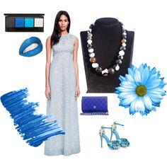 """BLUE! http://etsy.me/1sn4ez4"" by dearmissj on Polyvore"