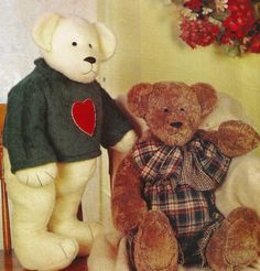 Jointed Stuffed Plush Teddy Bears Craft Pattern by StarvingPackrats, $5.95