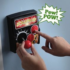 Think Geek's PowerUp brings the arcade controls to your room's light switch
