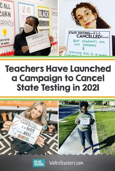 The Cancel State Testing in 2021 campaign is gaining traction and teachers across the country prioritize students over data during a pandemic. Normal School, Need A Job, Changing Jobs, Student Learning, Lesson Plans, Digital Scrapbooking, Campaign, Product Launch, Teacher