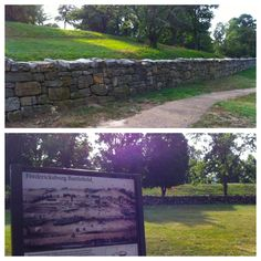 "The ""Sunken Road"" - Fredericksburg Battlefield, VA"