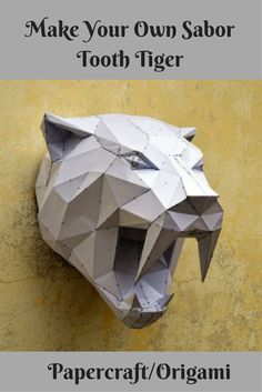 Origami Sabor Tooth Tiger Paper Crafts#ad