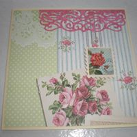 Floral card about 13cm square