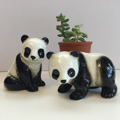 Vintage Panda Twins!   Available at Splendiferous Goods Etsy Shop! $12.00
