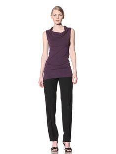 79% OFF Calvin Klein Collection Women's Sleeveless Cowl Neck Top (Plum)