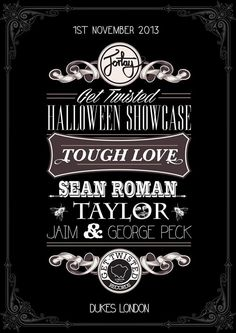 Get Twisted Halloween Showcase feat. Tough Love | Dukes | London | https://beatguide.me/london/event/dukes-fortay-presents-get-twisted-halloween-showcase-20131101/poster/