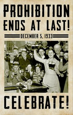 Prohibition Ends Celebrate Poster by Jon Neidert.  All posters are professionally printed, packaged, and shipped within 3 - 4 business days. Choose from multiple sizes and hundreds of frame and mat options.