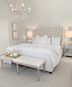 Home Decor Bedroom Elegant Master Bedroom Refresh with The Company Store The Decor Diet.Home Decor Bedroom Elegant Master Bedroom Refresh with The Company Store The Decor Diet Room Ideas Bedroom, Bedroom Inspo, Home Decor Bedroom, White Bedroom Decor, Couple Bedroom Decor, Bedroom Ideas Master For Couples, Bedroom Decor Glam, Cream And White Bedroom, Bedroom Inspiration Cozy