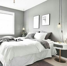 The bedroom interior design is among the many most important house inside d Master Bedroom Interior, Gray Bedroom, Home Bedroom, Interior Design Living Room, Bedroom Ideas, Gray Bedding, Queen Bedding, Grey Room, Design Bedroom