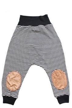 Tiny Black/White Stripe Patch Harems | Two Little Kings