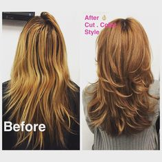 Before and After Results on Client | Took Her From a Yellow Blond to a Nice Even…