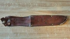 Vintage Edge Brand Made in Germany Stag Hunting Knife Sheath only  #EdgeBrand