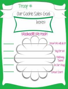 Girl Scout Cookie Sales - Free Printable Goal Posters for troop & individual girls