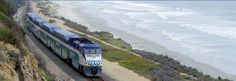 The Coaster! A train that runs along the coast between Oceanside, Carlsbad, others… to San Diego. 7 Stops along the way.