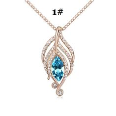 Wholesale Pendant Necklaces - Buy Austrian Crystal Gold-plated Diamond Pendant Korean Fashion Jewelry Necklace Wind Wizard A545, $2.1 | DHgate