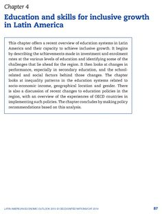 Education and skills for inclusive growth in Latin America   OECD READ edition