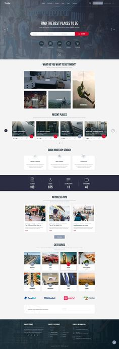 Prolist is a professionally designed Directory & Listing PSD Template. Prolist PSD template comes with 34 well organized PSD files, which enable you to create a Online Web Design, Web Design Tips, Web Design Trends, Web Design Company, Ux Design, Layout Design, Homepage Design, Design Websites, Graphic Design