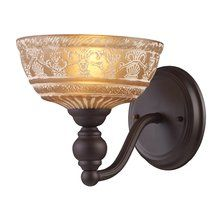 View the ELK Lighting 66190 Norwich Single-Light Sconce in Oiled Bronze at LightingDirect.com.