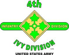 "4th Infantry Division "" Ivy Division"" United States Army Shirt"