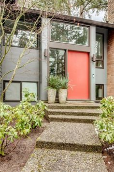 Split Level Remodel – Sammamish Split by Board & Vellum – Path the the front door.