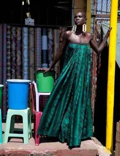 Africa Fashion Week NYC- Kenyan model Ajuma Nasenyana!