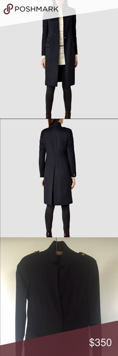 NWT all saints Brand-new never worn. Wool and silk coat. Impeccable fit. Ultra flattering/slimming. One button hidden closure. All Saints Jackets & Coats