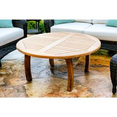 Tortuga Outdoor Teak Round Coffee Table - Overstock™ Shopping - Big Discounts on Coffee & Side Tables