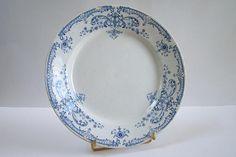 Luneville Keller & Guérin plate Luxembourg pattern earthenware