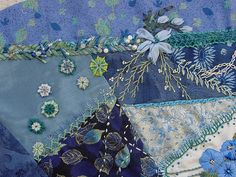 crazy quilt embellishments...would look great when you have to patch your favorite jeans, too!