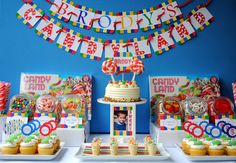 Let's face it — in Candyland, the sweets are the center of attention. Cover every inch of the table with ja...
