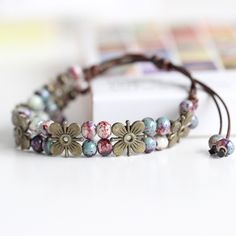Now available on our store: Glaze Ceramic Han... Check it out here! http://www.iitrends.com/products/glaze-ceramic-handmade-bracelet-flower-and-bead-bracelet-nature-inspired-bracelet?utm_campaign=social_autopilot&utm_source=pin&utm_medium=pin