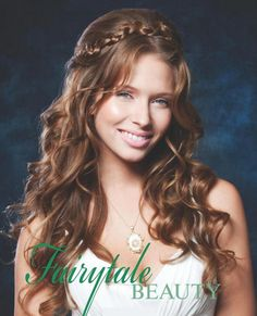 Romantic, Fairytale Wedding Hairstyle for Long Hair