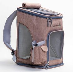 Fashion Outdoor Sport Pet Dog Cat Carrier Backpack Net Linen Travel Bag L 3color  - Ideas of Cat Backpack #CatBackpack